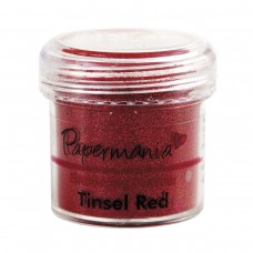 PaperMania - Embossing Powder (1oz) - Tinsel Red.