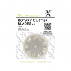 Xcut 45mm Rotary Cutter Replacement Blades (2pcs).
