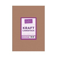 Brown Kraft A4 Card 280gsm in 50 sheet pack by Crafters Companion
