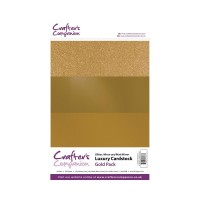 Luxury Mirror A4 Card Pack 250gsm in 3 mix of Gold 30 sheet pack by Crafters Companion