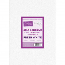 Centura Pearl A4 Fresh White  Self Adhesive 320gsm Card in a 20 sheet Pack by Crafter's Companion