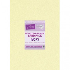 Centura Pearl Luxury A3 Ivory 320gsm Double Sided Card in a 20 sheet Pack by Crafter's Companion