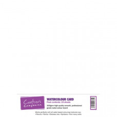 Watercolour Card Pack 300gsm white in 15 sheets by Crafter's Companion